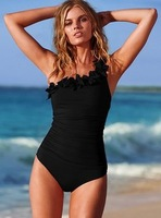 Free shipping Swimsuit One Piece One Shoulder Triangle Fashion Female Swimwear