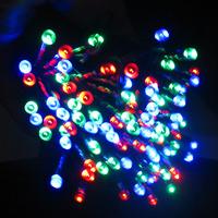 LIWEEK 100-LED RGB Solar Powered Christmas Party Indoor Outdoor Flashing string light- RGB(17M)