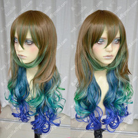COSPLAY new pink mixed long curly cosplay full wig