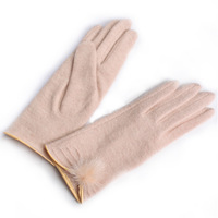 Wool gloves winter thermal women's short design gloves y002