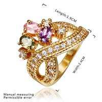 New Arrival 18K Gold Plated Ring,Fashion Jewelry Ring,18K Rhinestone Austrian Crystal Ring Men Women Wedding Rings SMTPR436