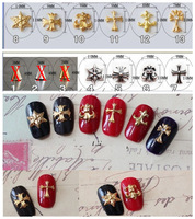 Free Shipping Japan Hearts one design 100pcs Chrome Fashion Gold Plated Trendsetter Metal Nail Art Alloy of 3D Nail Studs