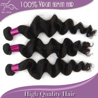 100% Unprocessed virgin brazilian hair loose wave Grade 5A human hair weave extension weft mix 3pcs lot DHL fast shipping