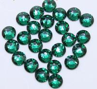 Super Shiny 1440PCS ss6 2mm Dark Green Emerald Crystal non-hotfix Nail Rhinestones 3D Nail Art Decoration DIY Beads