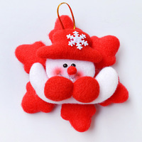 Shining christmas tree decoration hangings christmas snowman doll Christmas gift