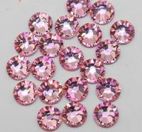Super Shiny 1440PCS ss6 2mm pink Flat back Crystal non-hotfix Glue Fixed LT.ROSE Color Nail Art Flatback Rhinestones