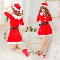 sweet costume peter pan collar set  christmas clothing