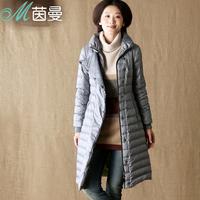 Inman 2013 winter female brief color block liner thermal long design down coat