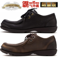 breathable shoes tooling leather genuine cowhide leather shoes men's