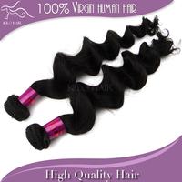 Grade 5A brazilian virgin hair loose wave 100% Unprocessed human hair weave extension hair weft on sale 2pcs lot