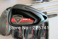 Brand New Golf Clubs RAZR X Black Iron Set 4-9PAS(9pcs) Steel Shaft Regular or Stiff Shaft Flex Come With Headcover