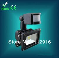 50pcs/lot 10W Cool White LED PIR Motion Sensor Outdoor floodLight Spotlight Waterproof led projector free shipping