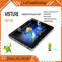 Original  Visture V97 HD Quad Core RK3188  2048 x 1536p 9.7 Android 4.2 Retina Display Tablet PC Dual Camera 5MP Bluetooth