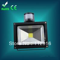 30pcs/lot 10W 20W 30W 50W PIR Motion Sensor Led Flood light Floodlight Landscape Lamp AC85-265V 110lm/w outdoor wall lighting