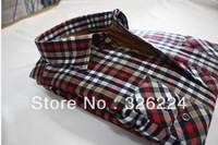 2013 Winter Male Plus Velvet Thickening Plaid Warm Shirt Long-Sleeve Men Casual Shirts Warm Shirt