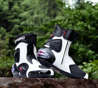Free shipping the waterproof leather motorcycle boot women men's Motorcycle Boots off road motorcross racing boots