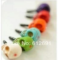 Skeleton phone dust plug for iPhone 4/5 fashion crystal air dust plugs charms 3.5mm phone accessory for girl
