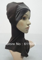 S495a new both satin ninja underscarf, mini hijab,neck cover hats,accept choosing colors
