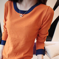 2013 spring sweater all-match low-neck sweater basic shirt long-sleeve sweater female