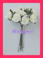 100 Ivory Foam Mini Roses Flowers-Wedding Flowers