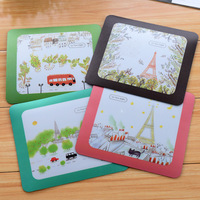 Min. order is $15 (mix order) Korea stationery romantic fresh eiffel tower pvc mouse pad 2731