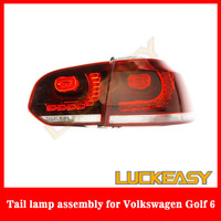 Free,drop and fast shipping for 2010-2012 Volkswagen Golf 6 taillight special LED taillight /REAR LAMP