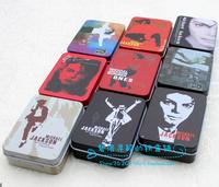 Mj Jackson  business card box poker case card storage box tin card box wholesale free shipping