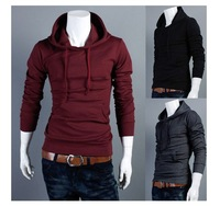 New fashion all-match sleeve head men's hoodies