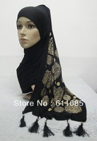 S497 new style cotton scarf with arabic words and fringe,fast delivery,free shipping