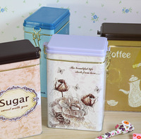 New style Modern fashion beautiful food storage box  tin storage box dried fruit snacks iron box