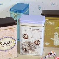 New style Modern fashion beautiful food storage box  tin storage box dried fruit snacks iron box