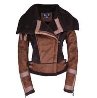DHL Free shipping high quality leather sleeve coat genuine leather coat leather jacket winter leather jacket fur beaver fur coat