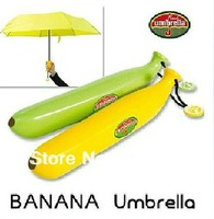 Free shipping Banana style umbrella Anti-uv sun Folding rain umbrella Creative manual Umbrella women umbrella