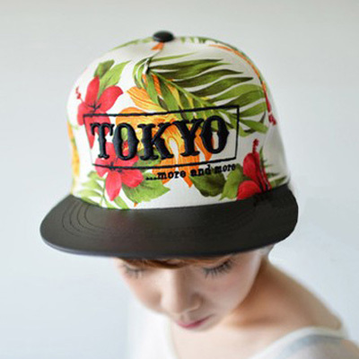 Korean fashion TOKYO Baseball Caps, Flat brim hip-hop cap, Lovely pattern Male and female baseball cap, Free shipping(China (Mainland))