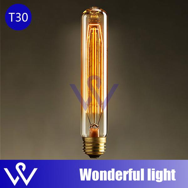 Special lighting Filament bulb Art light bulb vintage retro T30-185 Edison lamp E27 Halogen Bulbs ,FREE SHIPPING(China (Mainland))