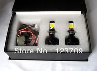 Aluminium Housing H7 Socket 12V 42W 3600 LM Car LED Headlight With 4xCob Cree LED Chip For Audi