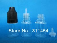 wholesale original factory 5ml pet eliquid bottle with childproof caps(different colored caps)