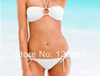 Free shipping suits for women Pure color bikini swimsuit sexy triangle fission swimsuit hot sale
