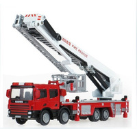 Hot Sell 2013 Classic Toys Alloy Engineering Car Model Climb Ladder Fire Truck Model Support Simulation Car For Child 1:50