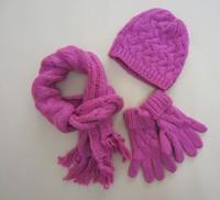 2013-2014 New Kids Winter Scarf, Hat & Glove Children Knitted hat Woolen Hat  Baby Knit Cap  2 size 2-4Y,4-6Y