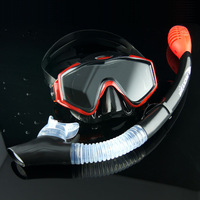 Cool submersible anti-fog mirror face mask full dry breathing tube snorkel triratna submersible