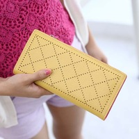 Wallet female long zipper design cutout color block day clutch 2013 hot-selling purse wallet  women wallets purse women wallet