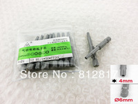 50mm Long 4mm Security Type Tip Magnetic Torx Screwdriver Bits Gray 10 Pcs
