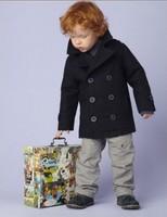 Hot sale 3T/4T/5T/6T/7T woolen 2013 fall jacket coat for Boys