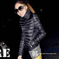Women's cotton-padded jacket 2013 slim stand collar short design wadded jacket female autumn and winter outerwear small