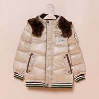 Winter children's clothing paw bear male red child winter down coat outerwear
