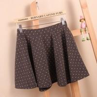 Women's fashion bust skirt women ladies pleated puff skirt polka dot high waist skirt