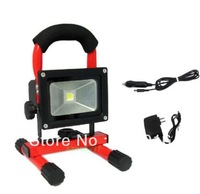 working 6hours 12V 10w & 20w Portable Hi Power White LED Work Light Rechargeable Flood Light IP65 outdoor led spotlight