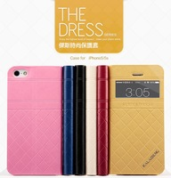 For Iphone 5s 5 Leather Case Display Through Holder Flip Cover