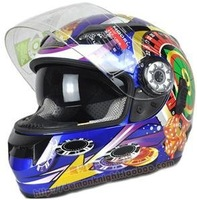 Double Lens Racing Sports Full Face Flip Up Motorcycle Helmet T107A